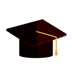 Graduation hat accessory degree celebration vector