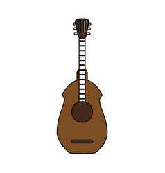 guitar acoustic instrument vector image vector image