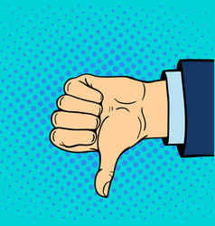 hand showing thumbs down deaf-mute gesture human vector image vector image