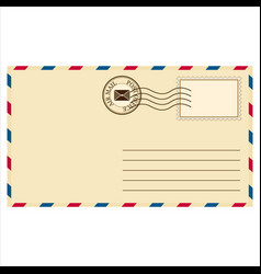 Mailing envelope vector