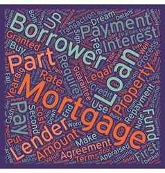 Mortgage Can Be A Long Engagement text background vector image vector image