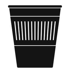 Plastic office waste bin icon simple style vector