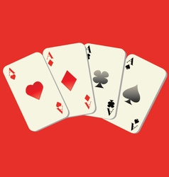 Playing cards with red background vector