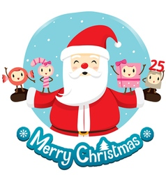 Santa Claus And Ornaments Character Design vector image