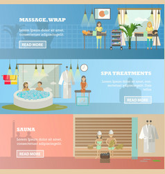Set of spa therapy concept horizontal vector