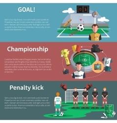 Soccer sport banners set vector