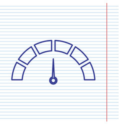 speedometer sign navy line vector image