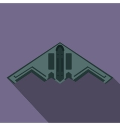 Stealth bomber icon flat style vector
