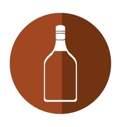 Tequila bottle alcoholic beverage shadow vector