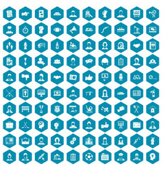 100 team work icons sapphirine violet vector image vector image