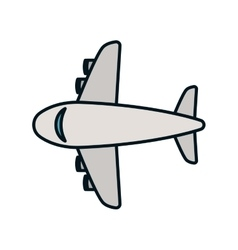 Airplane transportation vehicle icon vector