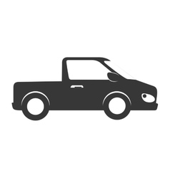 Car pickup mini automobile auto vehicle icon vector