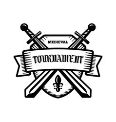 Medieval knight tournament sport logo vector