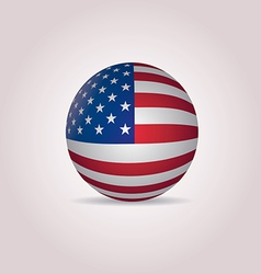 United states flag sphere vector