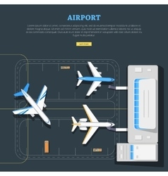 Airport aircraft location marking emplanement vector