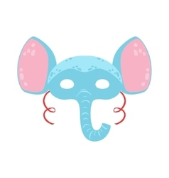 Elephant animal head mask kids carnival disguise vector