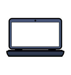 Laptop frontview icon image vector