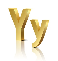 Golden letter y vector