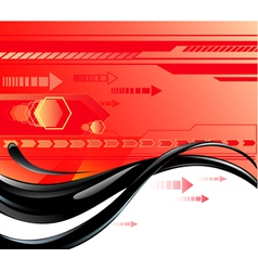 red background with oil vector image
