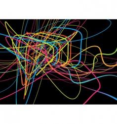 Neon lines vector