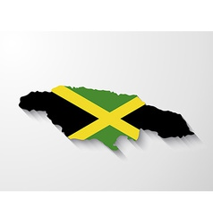 Jamaica country map with shadow effect vector
