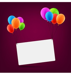 Celebrate card background with balloons vector