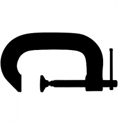 g clamp vector image