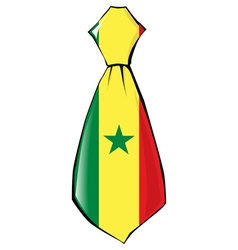 Necktie in national colours of senegal vector