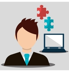 Business work and solutions vector