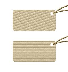 cardboard tag vector image