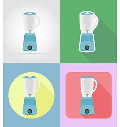 Household appliances for kitchen 08 vector