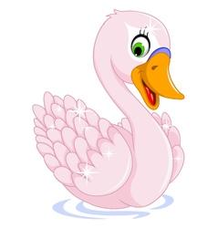 Cute goose cartoon posing vector