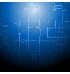 Blue technical design vector