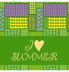 Summer card with designed text vector
