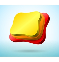 Abstract 3d plates vector image vector image