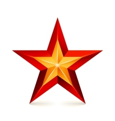 Achievement star realistic sign vector