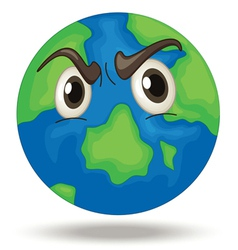 Angry Earth vector image vector image