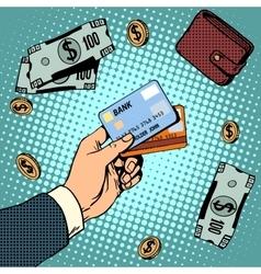 Bank card business discounts money finance sale vector