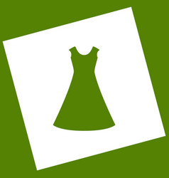 Beautiful long dress sign white icon vector
