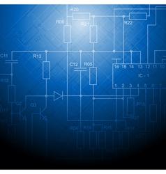 Blue technical design vector image