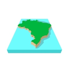 Brazil map icon cartoon style vector image
