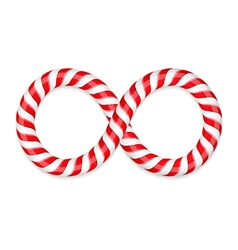 Candy canes infinity vector