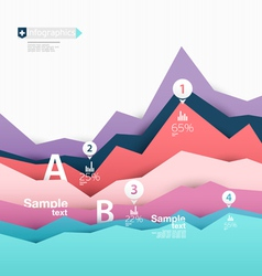 Colorful elements infographics vector