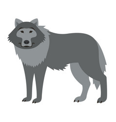Cute smiling wild wolf cartoon vector