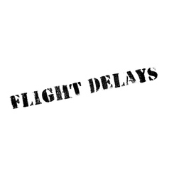 Flight delays rubber stamp vector