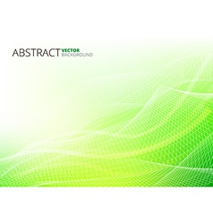 Green abstract lines vector