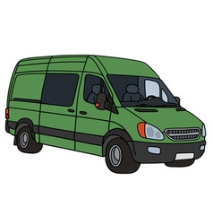 Green delivery car vector