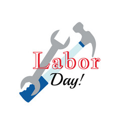 Holiday greetings labor day vector