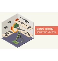 Isometric guns room vector