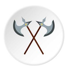 Medieval battle axe icon circle vector